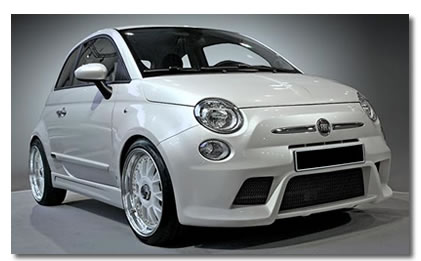 fiat 500 car accessories and styling - bosi exhausts, body kits.