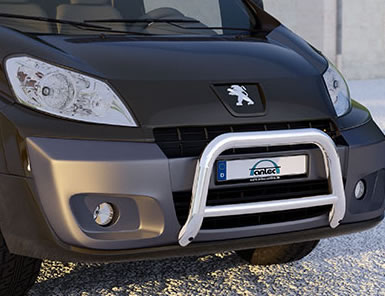 peugeot expert front bull bar with pipe